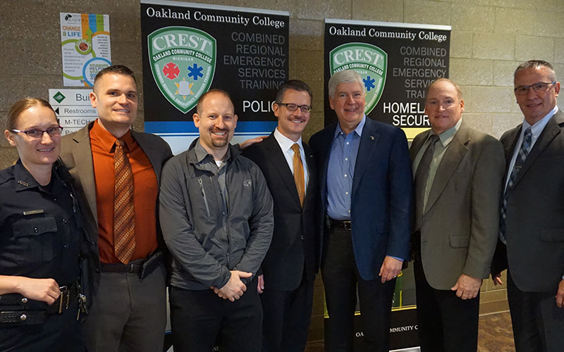 OCC's Public Safety Staff and Governor Snyder at the Trends in Terrorism Conference.